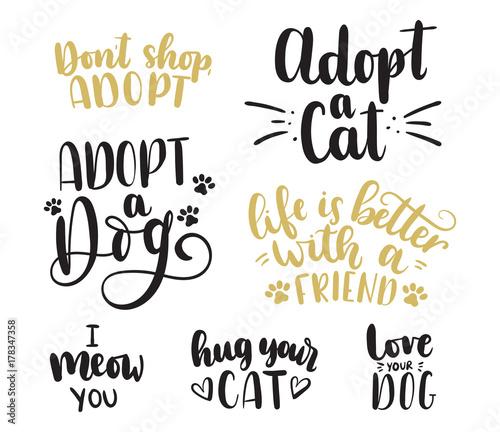 Photo Adopt a pet lettering set