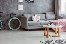 Bicycle, Simple Couch, Coffee Table