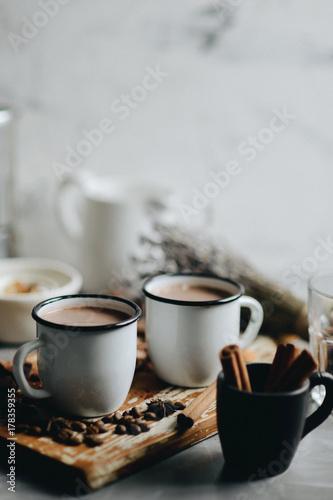 Foto op Plexiglas Chocolade Hot cocoa