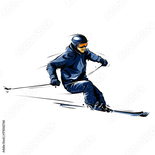 Tablou Canvas skier 1