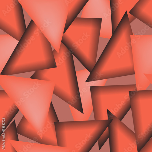 Abstract shapes  triangle background. Warm autumn colors. Vector illustration. seamless texture. Eps 10. #178382722