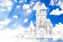 Fantasy Castle From Clouds In ...