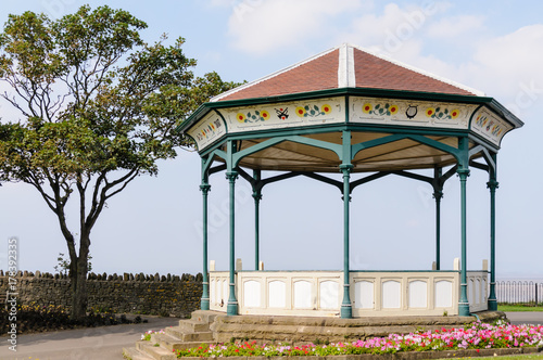 Victorian cast iron band stand on Clevedon Promenade Canvas Print