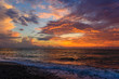 Amazing purple sunset over the Black Sea