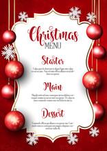 Christmas Menu Design Background