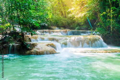 Cadres-photo bureau Campagne Erawan Waterfall, Erawan National Park at Kanchanaburi in Thailand