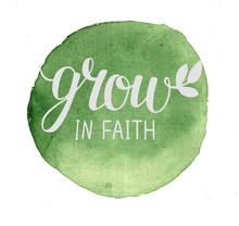 Hand Lettering Grow In Faith ,...