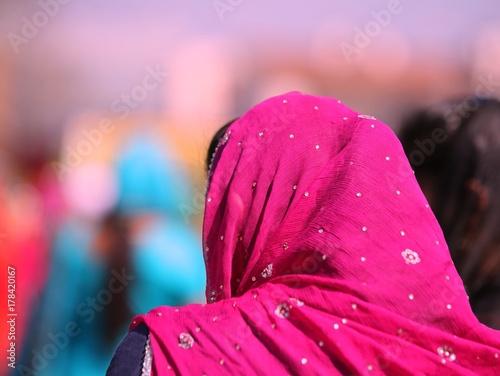 Zdjęcie XXL purpurowy welon Indianki