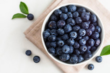 Juicy And Fresh Blueberries Wi...