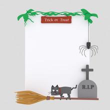 Halloween Placard  Isolate. ...