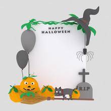 White  Halloween Placard  Is...
