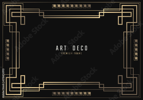Photographie  Vector geometric frame in Art Deco style