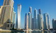 Modern buildings in Dubai Marina