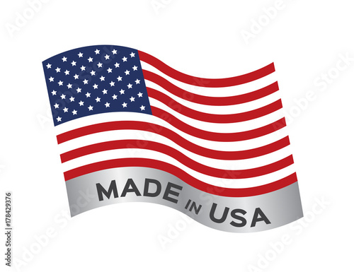 made in USA icon and vector Poster