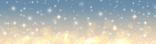 Christmas Background, Golden Blurred Lights, Glittering  Bokeh Background