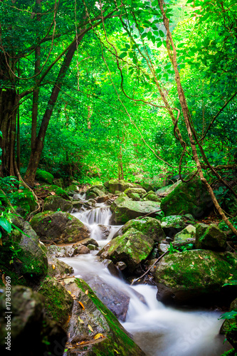 The landscape photo, beautiful waterfall in rainforest, kokedok waterfall in Saraburi, Thailand - 178438969