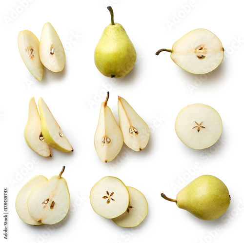 Fényképezés Fresh pear isolated on white background