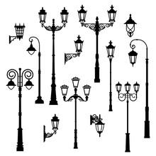 Set Of Vintage Streetlights.  ...
