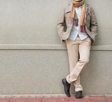 Fashionable Man In Beige