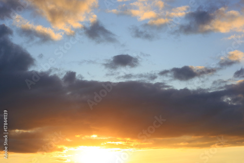 cloudy-sky-and-sun-at-sunset-dramatic
