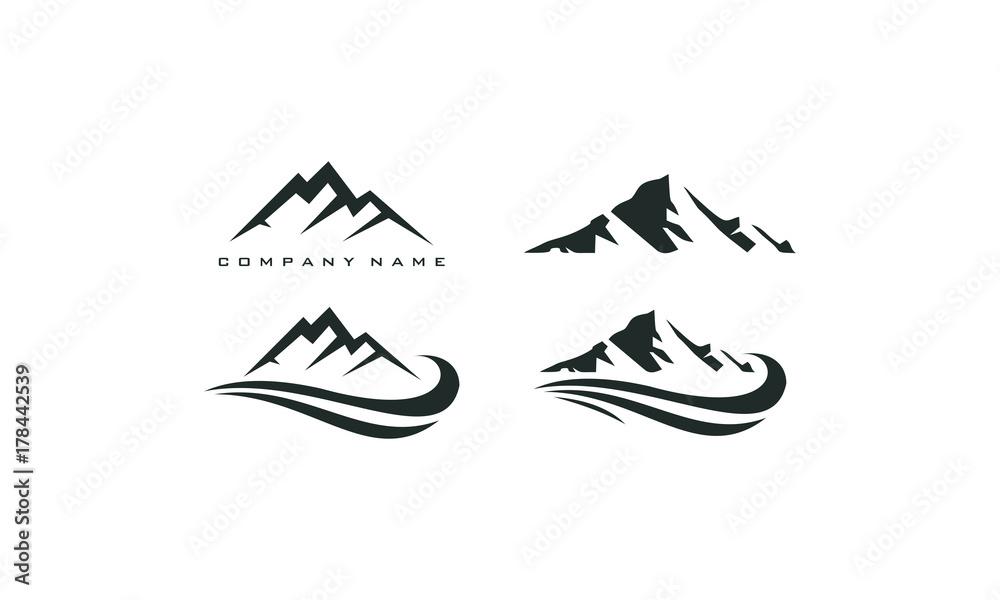 Fototapety, obrazy: mountain peak logo template