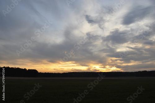 La pose en embrasure Coucher Zachód słońca
