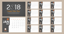 2018 New Year Calendar Simple ...