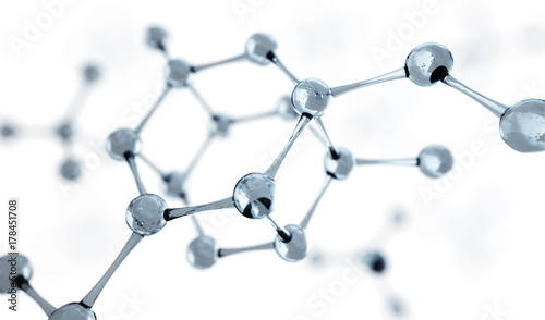 Science or medical background with molecules and atoms.