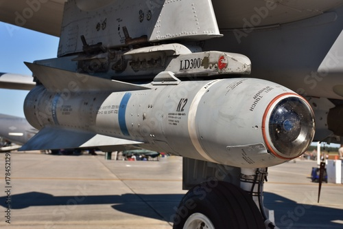 Photo  An Air Force AGM-65 Maverick missile on an A-10 Warthog attack jet