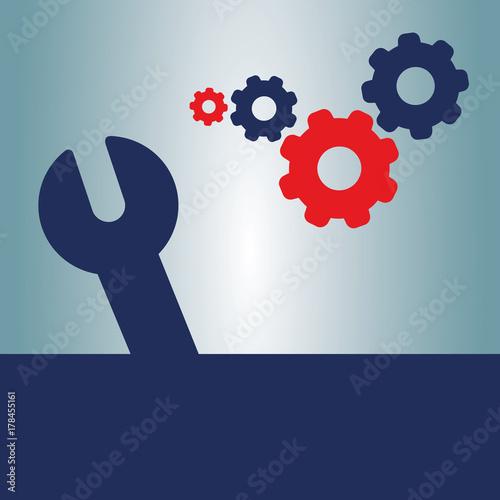 Keys And Wheels >> Repair Keys And Wheels Vector Illustrations Buy This Stock Vector
