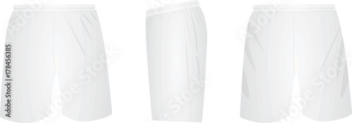 White shorts. vector illustration