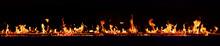 Horizontal Fire Flames With Da...