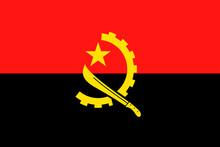 Angola Flag Vector Flat Icon