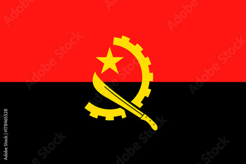 Angola Flag Vector Flat Icon Wallpaper Mural