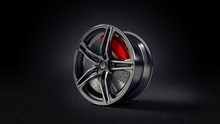 3D Illustration Of Car Rim Sta...