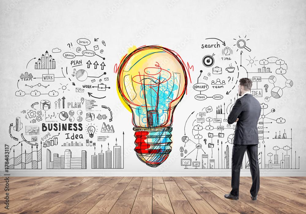 Fototapety, obrazy: Businessman, business idea and strategy