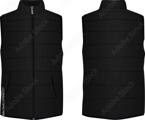 Cuadros en Lienzo Black vest. vector illustration