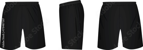 Black shorts. vector illustration Canvas-taulu