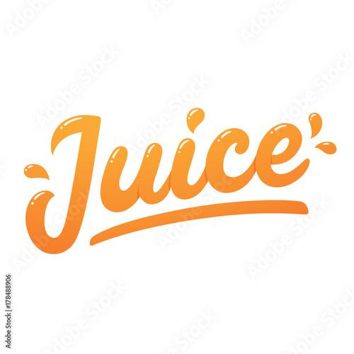 Tablou Canvas Juice logo lettering