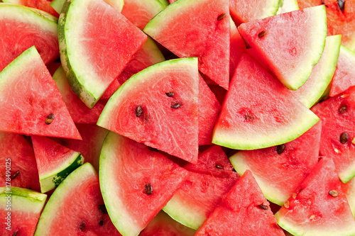 Slices of ripe watermelon as background
