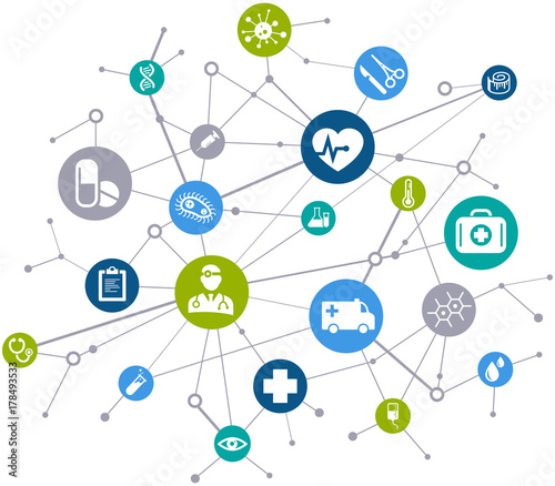 Photo  Interconnected healthcare concept