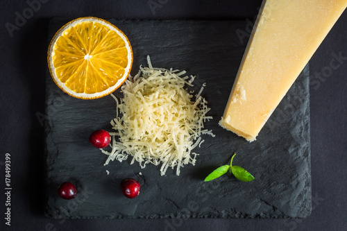 Grated parmesan cheese.