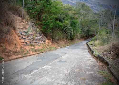 Obraz na płótnie Erosion control using tires