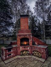 Outdoor Brick Oven In Backyard...