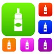 Medical drops set color collection