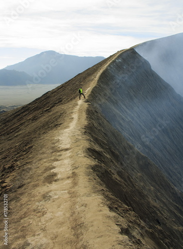 The road around the crater of the volcano Bromo Canvas Print