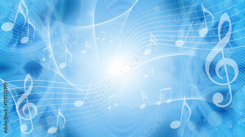 Fotomural  音符による音楽のイメージ背景