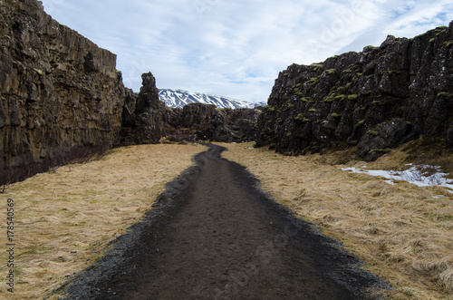 Foto  Falla Thingvellir, Islandia