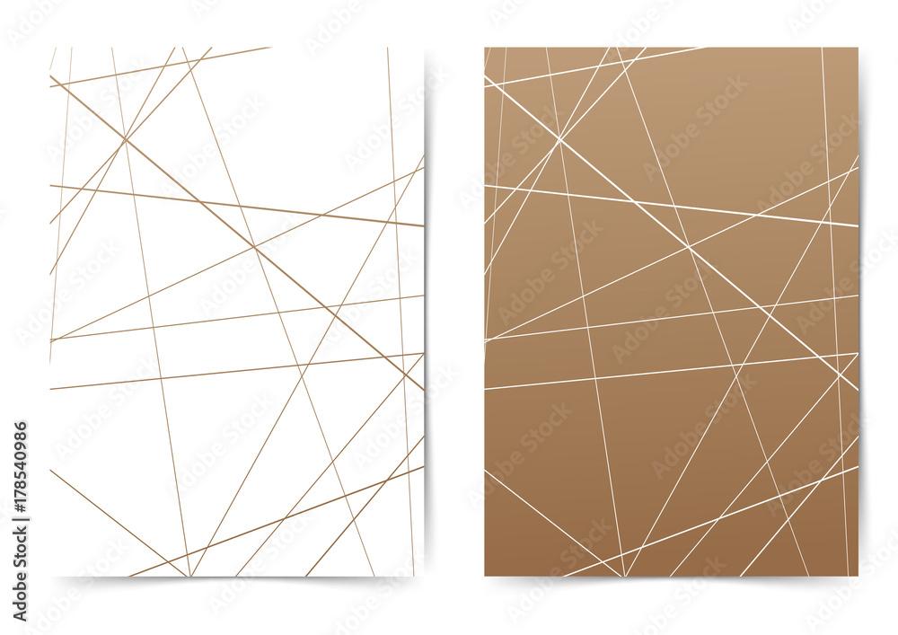 Fototapeta Abstract futuristic thin line pattern folder layout template