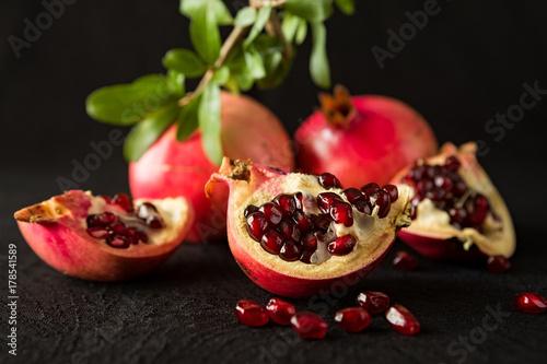 closeup-of-ripe-pomegranate-fruits